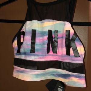 Pink Sports Bra Top